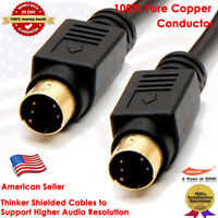 Gold 6 10 25 FT S-Video Svideo Male to Male Cord Cable/Lead For DVD HDTV VCR