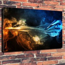 Lockheed Martin F-35 Aircraft Printed Canvas Picture Multiple Sizes 30mm Deep