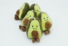 LOT OF 5 Avocado Keychain Stuffed Plush Toy FREE SHIPPING!!! Fast Delivery