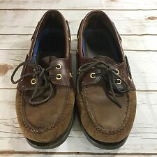 SPERRY Top Sider Slip On Shoes Brown Good Used Condition Sz 8 1/2 M