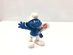 le schtroumpf salut 5,5 cm figurine schtroumpfs neuf à très bon état #47