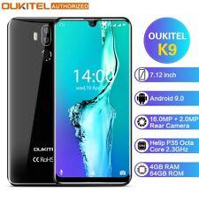 "Unlocked Oukitel K9 4G Mobile Phone 4GB+64GB 7.12"" Android 9.0 Octa Core 6000mAh"