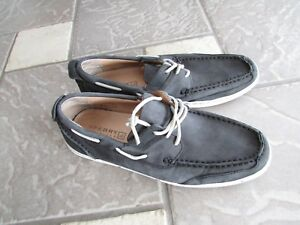 SPERRY TOP SIDER LEATHER SLIP ON LOAFER DECK SHOES MENS 8.5