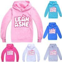 Leah Ashe Gamer YouTuber Kids Girls Hoodies Hooded Sweatshirt Tops Birthday Gift
