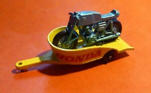 MATCHBOX by LESNEY No 38 - HONDA M / CYCLE & TRAILER 1967 - FINE CONDITION