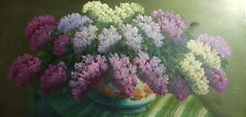 Still life with lilacs flowers oil painting