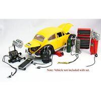 NEW KINSFUN Die-cast Metal Car Garage Accessories 1:18 Scale Diorama Kits Hobby