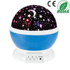 Constellation Night Light Baby Kids Lamp Moon Star Sky Projector Rotating Cosmos