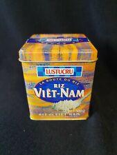 Boîte publicitaire en métal  LUSTUCRU  riz VIET-NAM