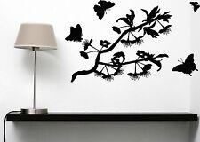 Wall Sticker Vinyl Decal Butterflies Flit Lovely Aroma Flowers (n101)