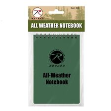 "Green Waterproof All Weather Tactical Notebook 4"" x 6"" Rothco 4603"