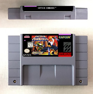 Captain Commando 16 Bit Game Cartridge For SNES English US Version