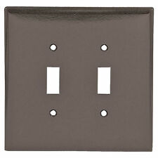 Eagle Brown Jumbo 2-Gang 2149Btoggle Switch Cover Oversized Thermoset Wallplate