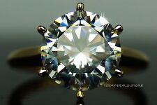 4.00 CT roung cut engagement wedding aniversary ring white & yellow gold 14k