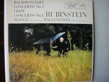 LM-2068 RCA VICTOR, RUBINSTEIN, Rachmaninoff & Liszt, Reiner/Wallenstein