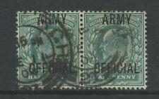 GB OFFICIAL ARMY KE7 1/2d PAIR...VF EDINBURGH CODE 21