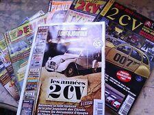 lot de 12 revues sur la 2cv dont un hors serie