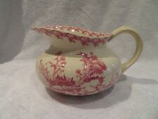 Broc de toilette faience de Gien 1878 Chardons Roses (toilet pitcher)