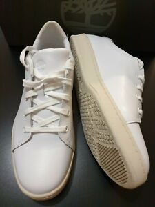 Timberland Women's Dashiell Oxford White Leather Trainers  UK 7 Brand New Org.