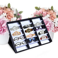 Sunglass Eyewear Case Organizer Storage Tray Display Box Rack Eye Wear Watches