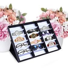 18 Grid Luxurious Eyeglasses Sunglasses Storage Organizer Display Case Box