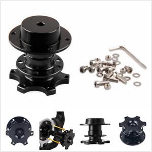 Quick Release Splined Black Car Steering wheel hub adapter kit snap off racing