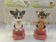 2- Solar Power Puppies Dog Chihuahua Dancing Bobblehead toy gift car dash office