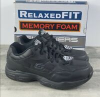 Skechers Slip Resistant Work Shoes Relaxed Fit Size 7 77032 Black FAST SHIPPING