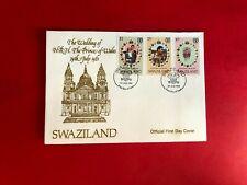 SWAZILAND 1981 FDC PRINCE CHARLES PRINCESS DIANA WEDDING ROYALTY