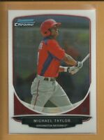 Michael Taylor RC 2013 Bowman Chrome Prospects Rookie Card #BCP47 Nationals