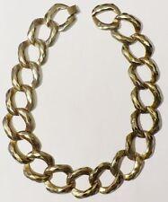 collier bijou vintage années 1970 maillon couleur argent patiné necklace *3982