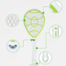 BUG ZAPPER RACKET ELECTRONIC MOSQUITO FLY SWATTER INSECTS ELECTRIC BAT HANDHE CO