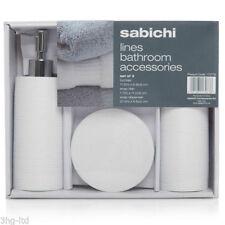 Set di accessori da bagno bianco cromo