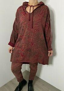 Lounge Wear 2 Pcs Hoodie Joggers Leopard Print Comfy Stretchy Track Suit