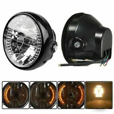 6-12V 7 Inch Motorcycle H4 Headlight LED Turn Signal Lamp Hi/Low Beam Universal