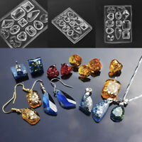 Silicone Mold DIY Resin Pendant Craft Tool for Earrings Necklace Jewelry Making.