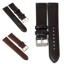 12-24mm Mode Brown / Schwarz Weichleder-Armbanduhr-Band-Frauen-Mann-Uhren Strap