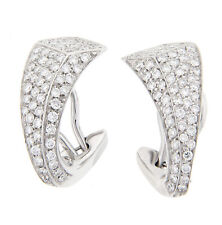 Antonini Bilbao Diamond Earrings 18K White Gold NEW 1.68CT TW