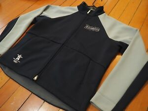 Men's 2010 Olympics Vancouver Whistler Canada ELEVATE Quilted Jacket Blue/Gray