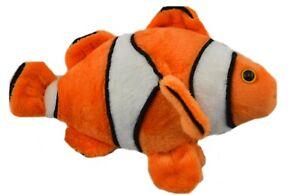 1 X PLUSH CLOWN FISH 17.5CM teddy gift soft toy stuffed animal bedtime nemo kids