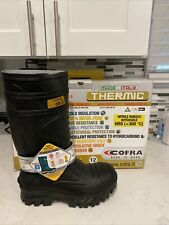 Cofra Waterproof Black Work Boots Thermic Cold Weather Rain Boot Safety 10 Wide