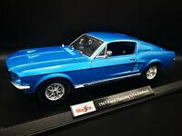 MAISTO 1967 FORD MUSTANG GTA FASTBACK METALLIC BLUE 1/18 SCALE SPECIAL EDITION