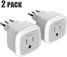Tessan Power Adapter Type L Plug for Usa to Italy Chile Uruguay Travel - 2 PacK