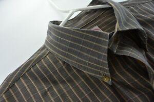 Brooks Brothers Mens Brooksflannel Shirt XL Olive Green Plaid Long Sleeve
