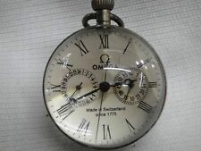 Chinese antique brass clock 5 needles spherical glass mechanical pocket watch