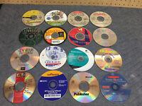 Lot Of 16 Vintage Software Disc Disks Lot (2)