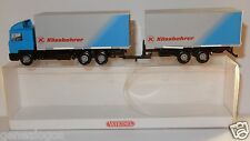MICRO WIKING HO 1/87 CAMION TRUCK & TRAILER MAN KASSBOHRER + REMORQUE IN BOX b
