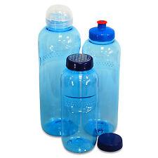 Trinkflaschen-Set aus Tritan 0,5, 0,75 & 1 Liter Mehrweg Flasche, + extras