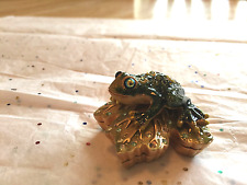ESTEE LAUDER 2002 SOLID PERFUME COMPACT EMPTY PRINCE CHARMING SPARKLY  FROG