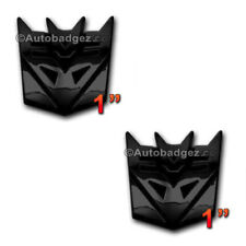 2 - NEW Transformers DECEPTICONS Decepticon badge emblem GLOSS BLACK PAIR MINI